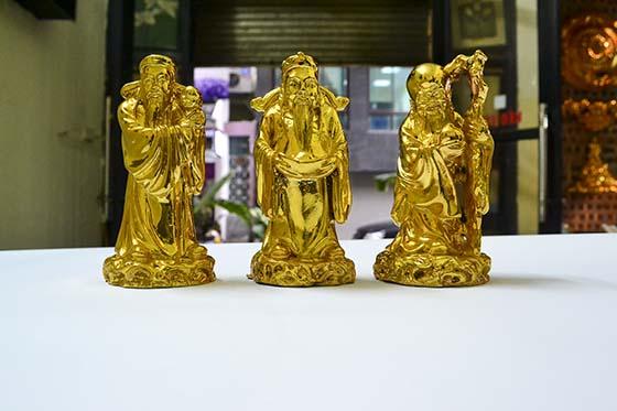 Tượng Phúc Lộc Thọ mạ vàng - tượng Phong thủy mạ vàng