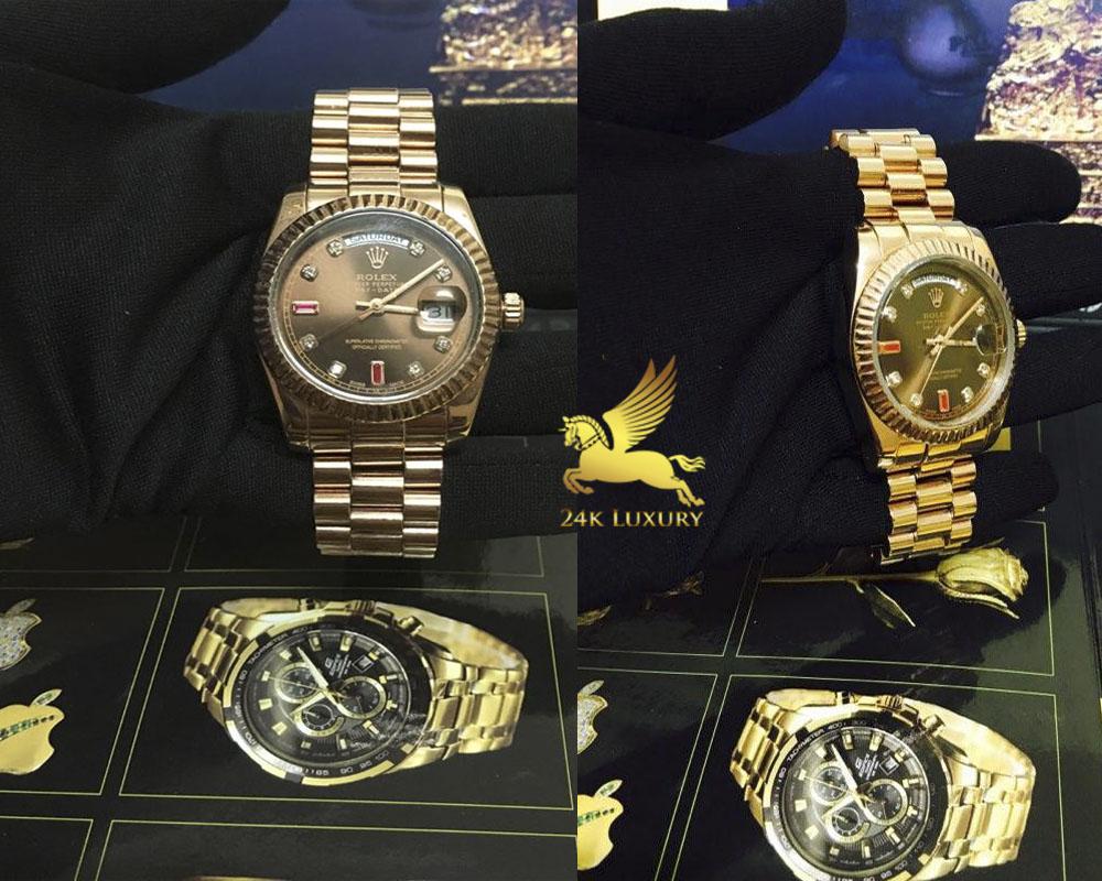 Đồng hồ Rolex mạ vàng trở thành sản phẩm được nhiều người ưa thích và sẳn lùng.