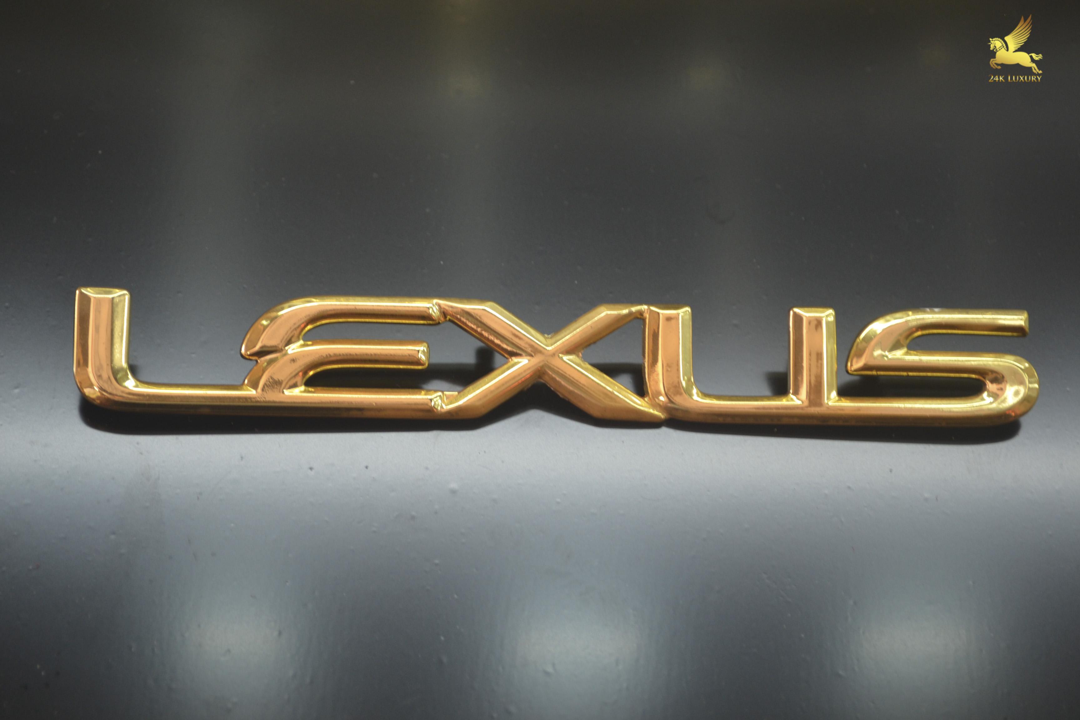 Bộ chữ Lexus mạ vàng tại Vina Gold Art