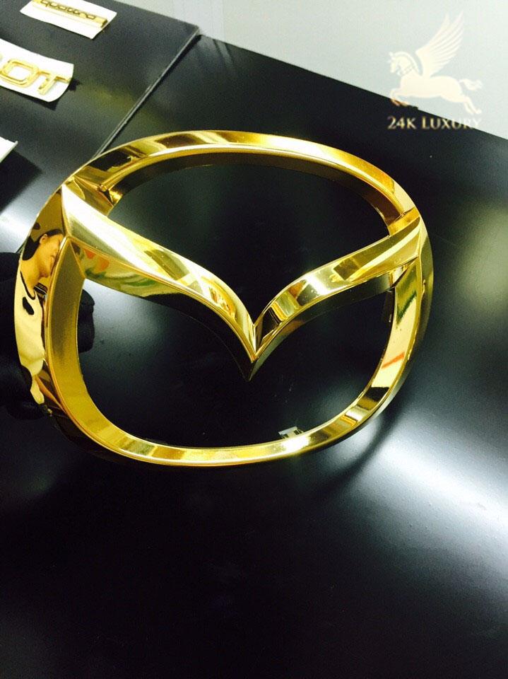 Mạ vàng logo ô tô Mazda- Vina Gold Art