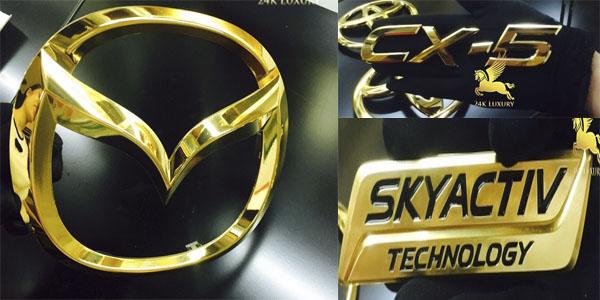 Mạ vàng phụ kiện ô tô Mazda tại Vina Gold Art