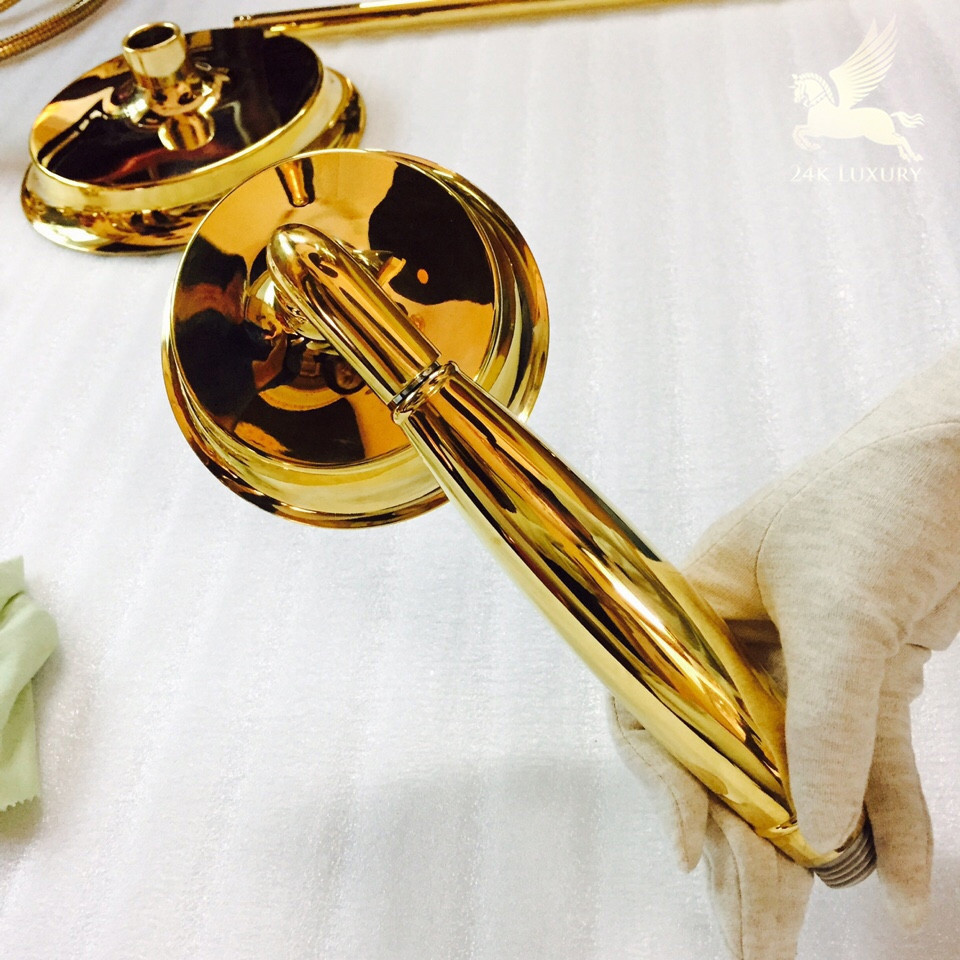 Hoa sen mạ vàng 24k- Vina Gold Art
