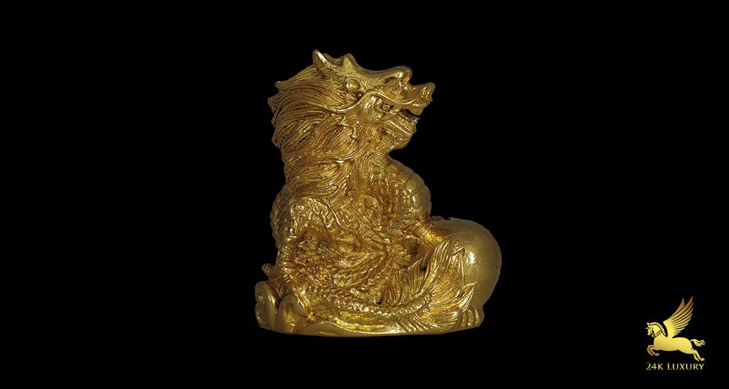 Tượng phong thủy mạ vàng - Rồng mạ vàng 24k