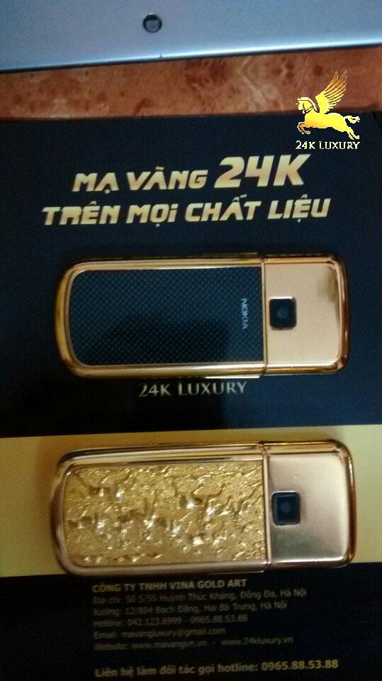 Mạ vàng phần nhựa của điện thoại 8800 và 6700