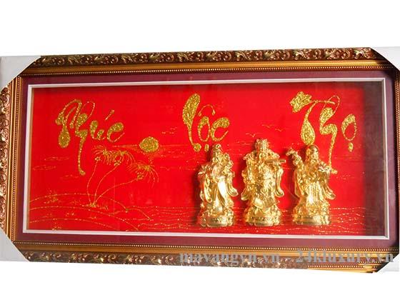 tranh tam đa mạ vàng