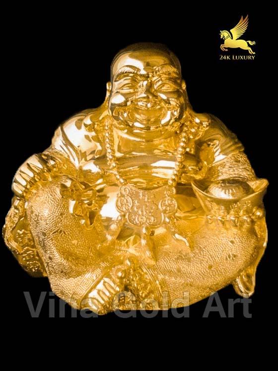 Tượng Di Lặc mạ vàng - tượng Phong thủy mạ vàng