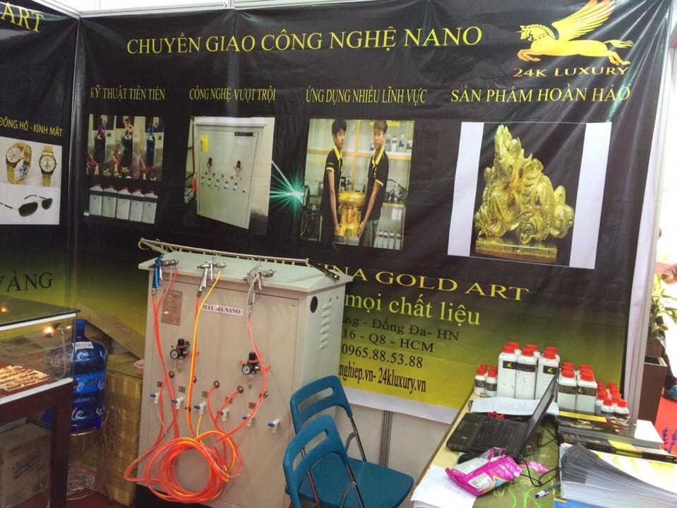 Máy mạ nano và các hoá chất mạ nano tại công ty Vina Gold Art