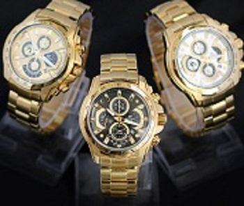 Đồng hồ mạ vàng- Sản phẩm thời trang cao cấp