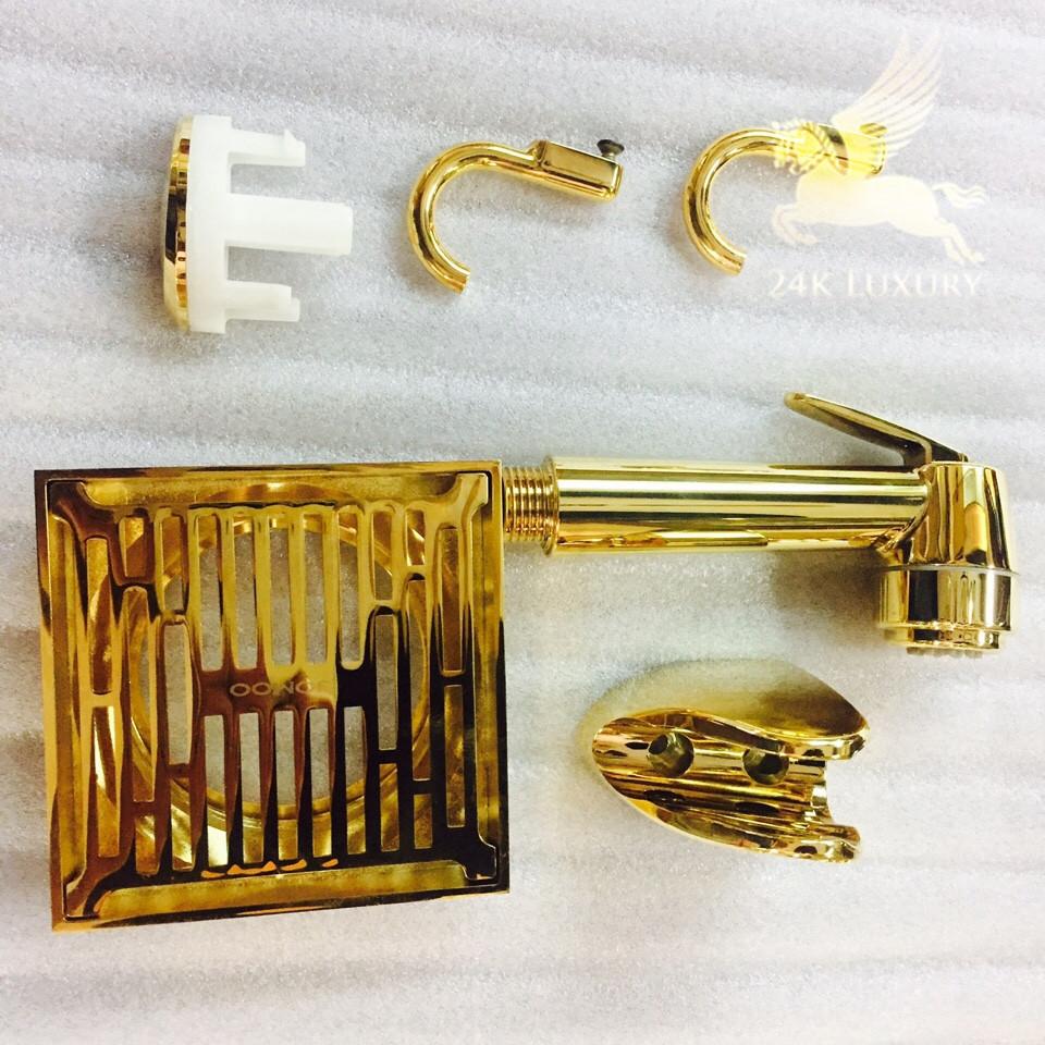 Bộ sưu tập những sản phẩm thiết bị vệ sinh mạ vàng tại Vina Gold Art