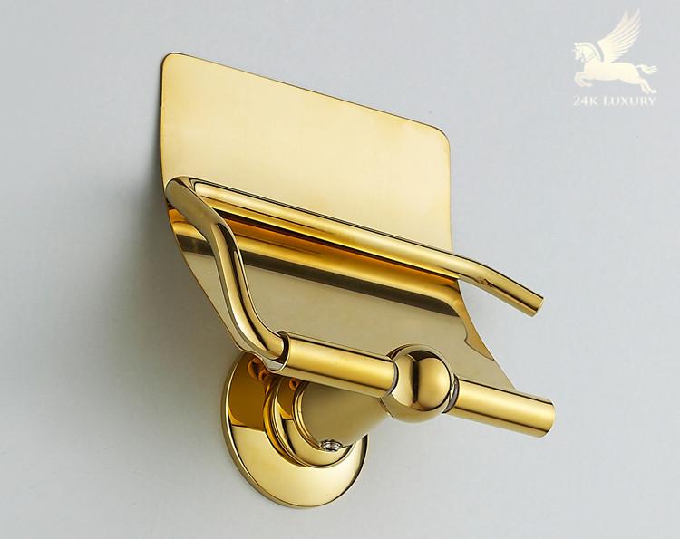 Lô đựng giấy mạ vàng thiết bị vệ sinh mạ vàng tại Vina Gold Art