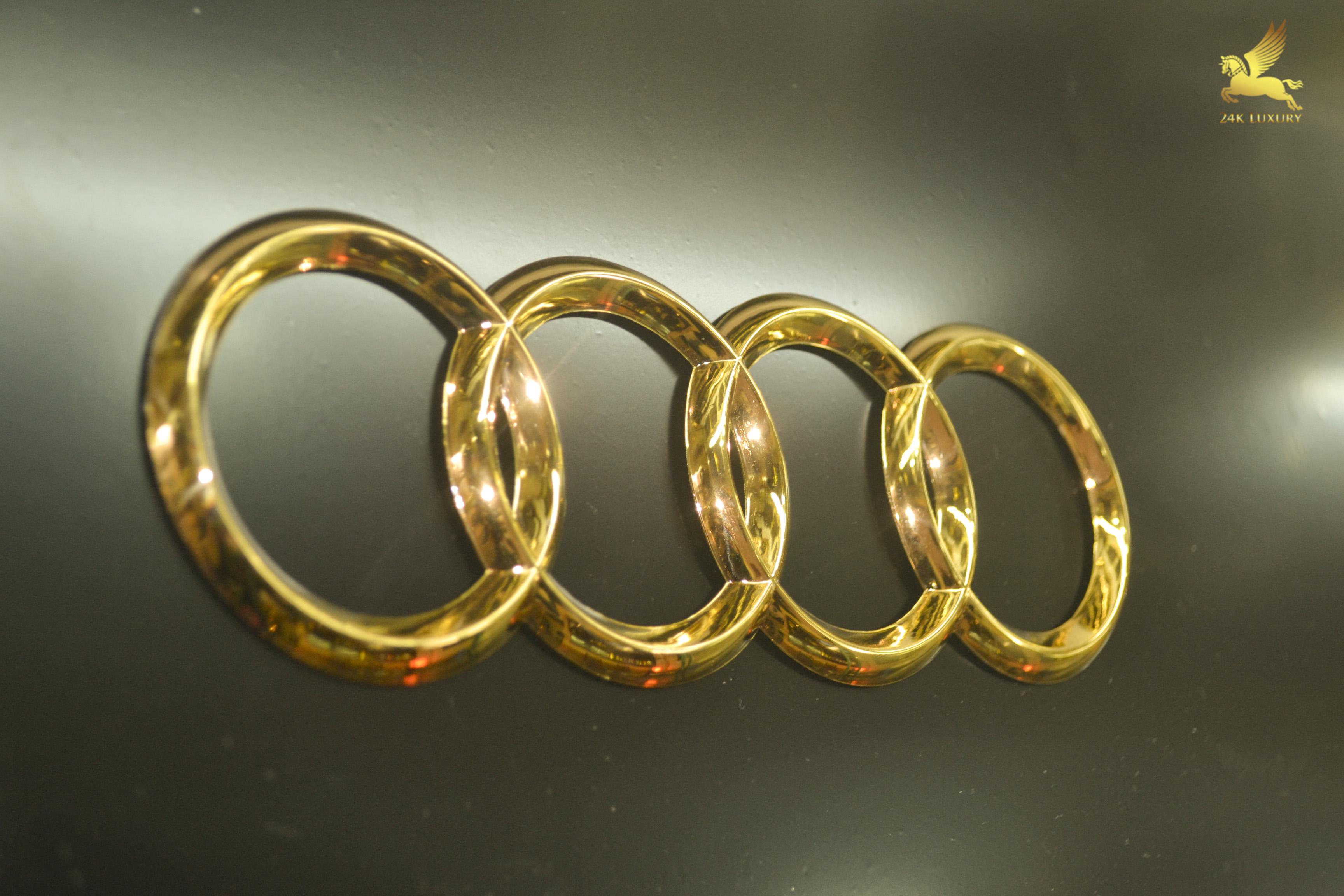 Logo ô tô Audi mạ vàng 24k- Vina Gold Art