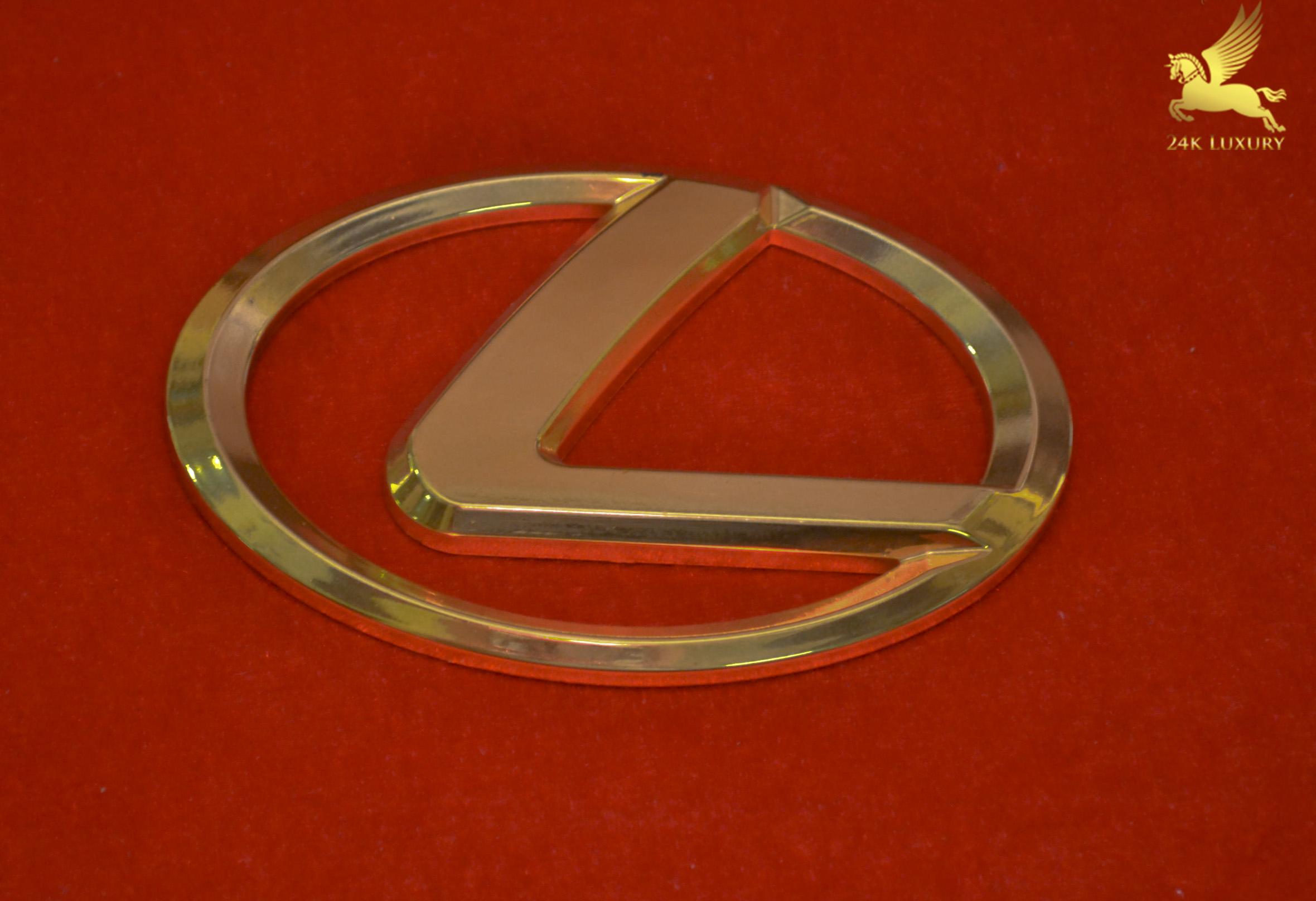 Logo ô tô Lexus mạ vàng 24k- Vina Gold Art