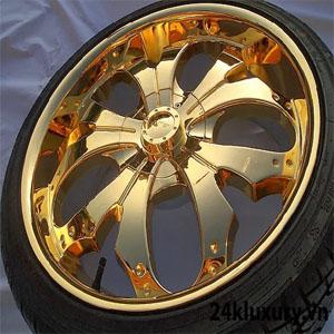 Vành ô tô mạ vàng sẽ mang lại lợi ích về kiểu dáng thẩm mỹ