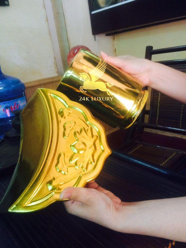 Ngói sứmạ vàng tại Vina Gold Art- sản phẩm nội thất mạ vàng
