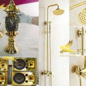 Những sản phẩm nội thất mạ vàng đang được ưa chuộng