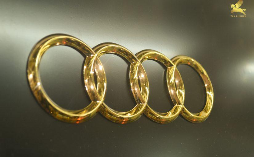 Logo Audi mạ vàng ấn tượng độc đáo- Vian Gold Art