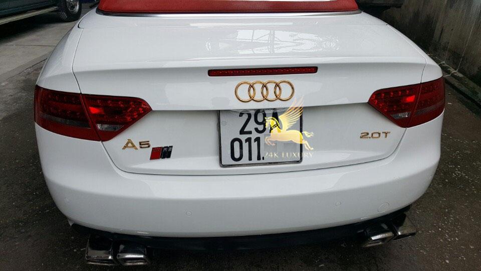 Ô tô Audi mạ vàng- xu hướng lựa chọn độc đáo nhất hiện nay
