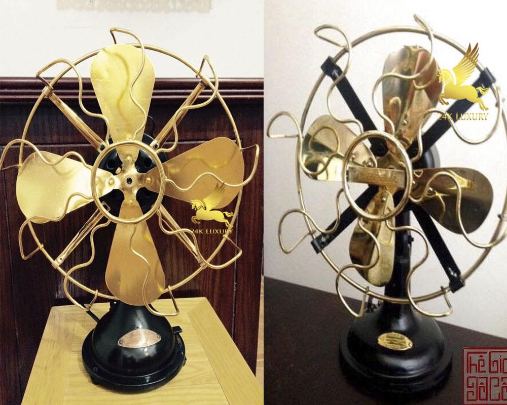 Quạt cơ mạ vàng tại Vina Gold Art- sản phẩm nội thất mạ vàng