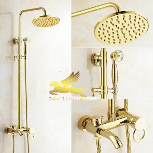 Thiết bị phòng tắm mạ vàng tại Vina Gold Art- sản phẩm nội thất mạ vàng