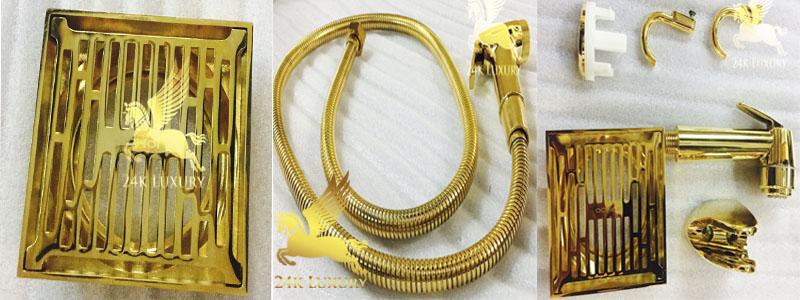 Thiết bị vệ sinh mạ vàng- Những sản phẩm làm nổi bật phòng vệ sinh cho gia đình bạn