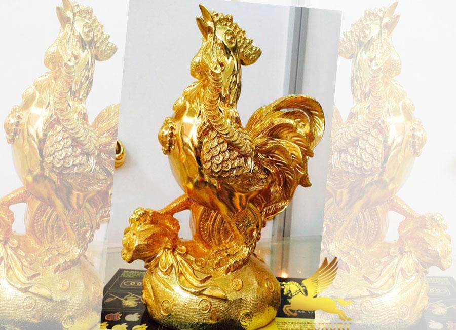 Tượng trống nhỏ  mạ vàng- Vina Gold Art