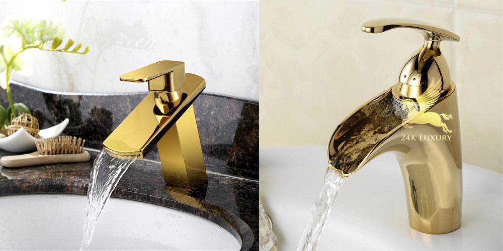 Vòi rửa mạ vàng Vina Gold Art  mang lại nét thẩm mỹ độc đáo