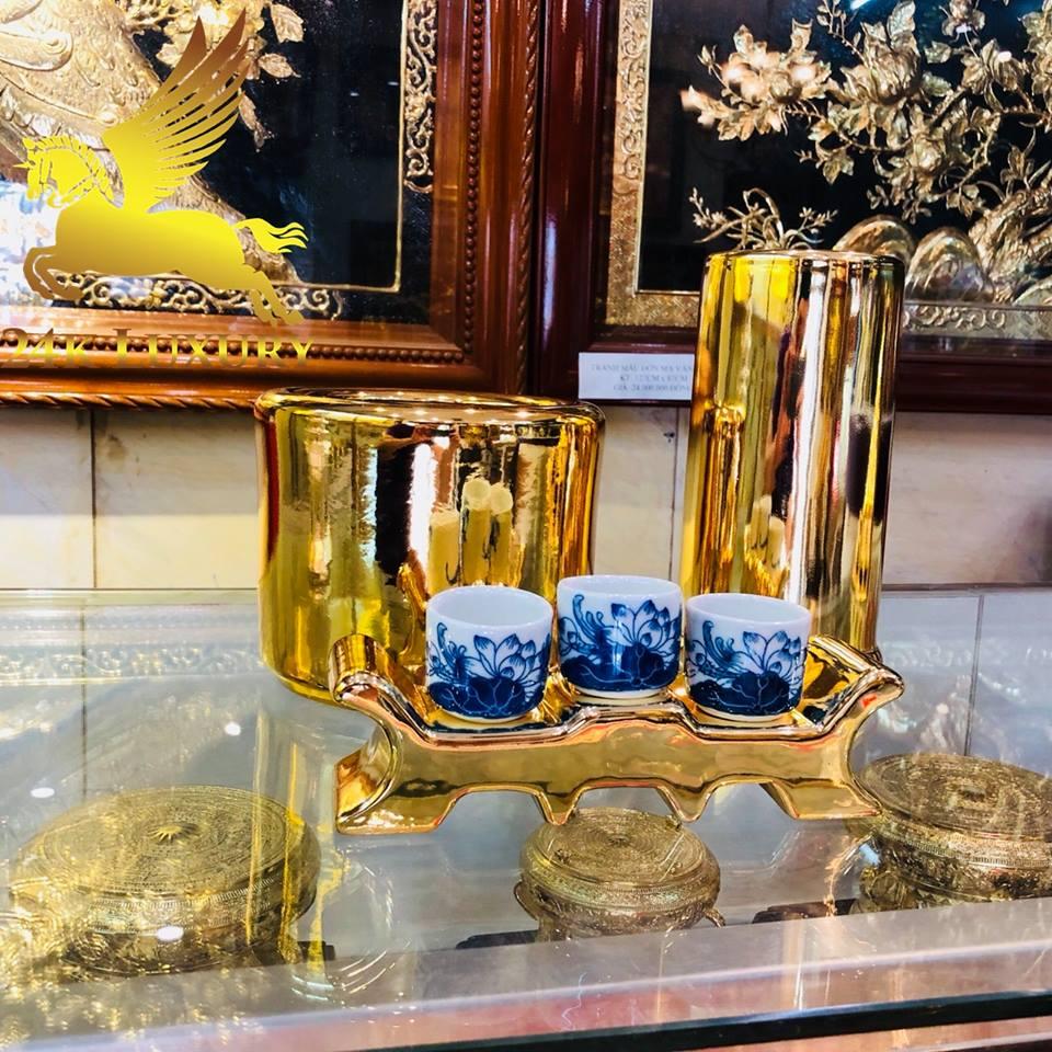 gốm sứ mạ vàng 24k